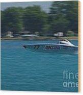 Amsoil Offshore Racer Wood Print