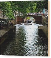 Amsterdam By Boat Wood Print