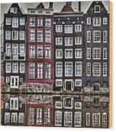 Amsterdam Reflections Hdr Wood Print