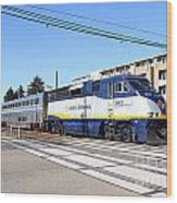 Amtrak Train 7d7310 Wood Print