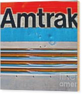 Amtrak Train Wood Print