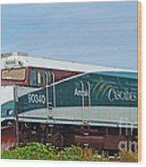 Amtraks Cascade Engine Wood Print