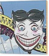 Amused Joker Wood Print