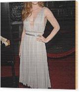 Amy Adams Wearing A J. Mendel Dress Wood Print by Everett