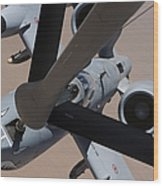 An A-10 Thunderbolt II Receives Fuel Wood Print