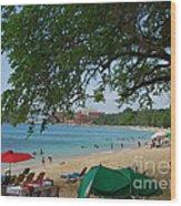 An Active Sosua Beach In Dr Wood Print