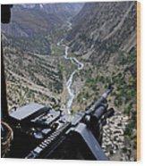 An Aerial Gunner Surveys Wood Print