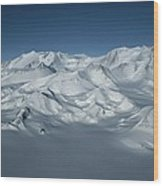 An Aerial View Of Mount Vinson Wood Print