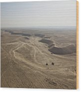 An Aerial View Of The Wadi Over Kunduz Wood Print