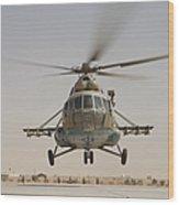 An Afghan Air Force Russian Mil Mi-17 Wood Print