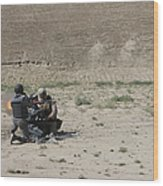 An Afghan Police Studen Fires Wood Print