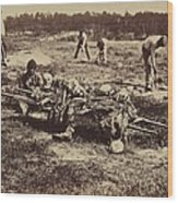 An African American Soldier Of A Burial Wood Print