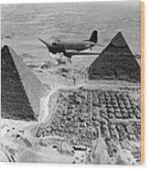 An Air Transport Command Plane Flies Wood Print