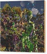 An Alien Being Blending Wood Print
