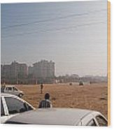 An Almost Empty Parking Lot At Surajkand Fair In India Wood Print