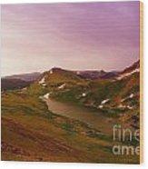 An Alpine Lake On Beartooth Pass  Wood Print