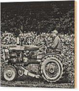 An American Farmer Wood Print