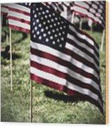 An American Flag Wood Print
