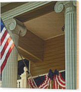 An American Holiday Wood Print