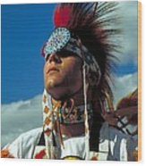 An American Indian No1 Wood Print