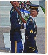 An American Soldier Wood Print