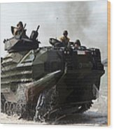 An Amphibious Assault Vehicle Hits Wood Print