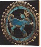 An Ancient Moche Indian Ear Ornament Wood Print by Bill Ballenberg
