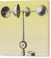 An Anemometer Wood Print