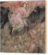 An Angel Piping To The Soulds In Hell Wood Print