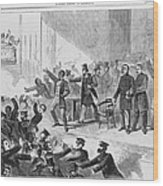 An Angry Mob Broke Up A Meeting Wood Print by Everett
