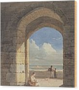 An Arch At Holy Island - Northumberland Wood Print