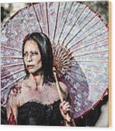 An Asian Zombie Wood Print