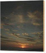 An Atlantic Sunset Wood Print