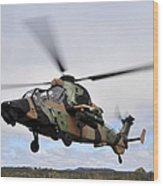An Australian Army Tiger Helicopter Wood Print
