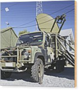 An Australian Defense Force Satellite Wood Print