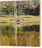An Autumn Bridge Wood Print