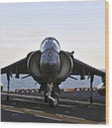 An Av-8b Harrier Maneuvers Wood Print