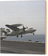 An E-2c Hawkeye Takes Wood Print by Stocktrek Images
