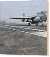 An Ea-6b Prowler Catapults Wood Print