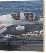 An Ea-6b Prowler During Flight Wood Print