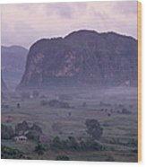 An Early Morning Landscape In Cubas Wood Print