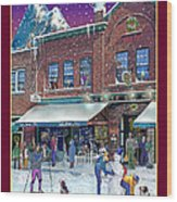 An Early Snow For Cafe Monte Alto Wood Print