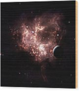 An Emission Nebula Is Viewed From Neaby Wood Print