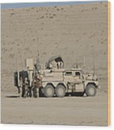 An Eod Cougar Mrap In A Wadi Wood Print