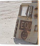An Explosive Ordnance Disposal Logo Wood Print