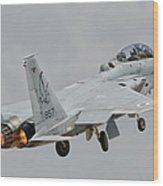 An F-15d Eagle Baz Aircraft Wood Print