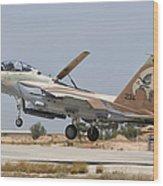 An F-15i Raam Taking Off From Hatzerim Wood Print