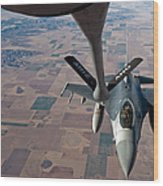 An F-16 Fighting Falcon Moves Wood Print