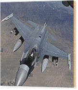 An F-16 Fighting Falcon Returns Wood Print