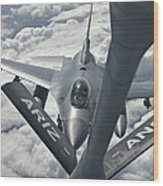 An F-16 From Colorado Air National Wood Print